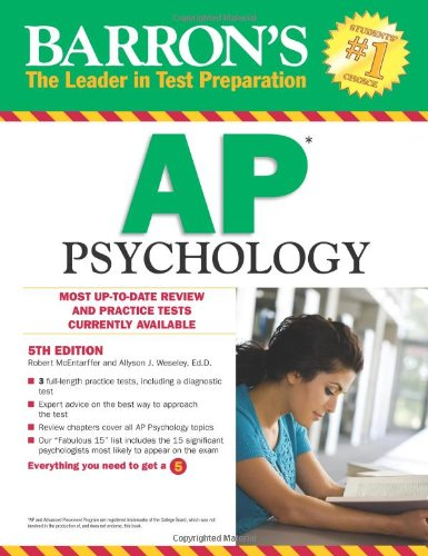 Barron's AP Psychology, 5th Edition  5th 2012 (Revised) edition cover