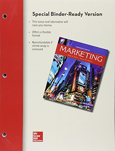 MARKETING (LOOSELEAF)                   N/A 9781259738012 Front Cover