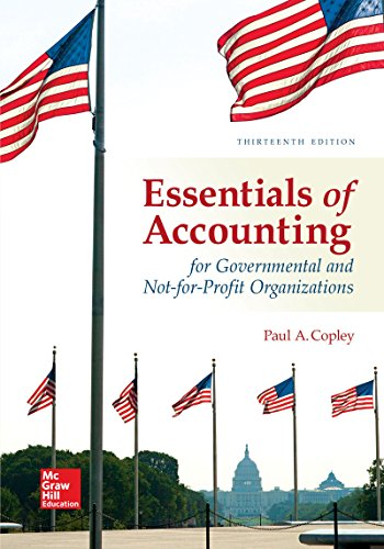 Essentials of Accounting for Governmental and Not-for-profit Organizations:   2017 9781259741012 Front Cover