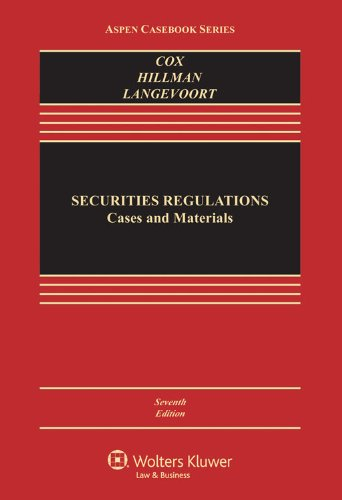 Securities Regulation: Cases and Materials  2013 edition cover