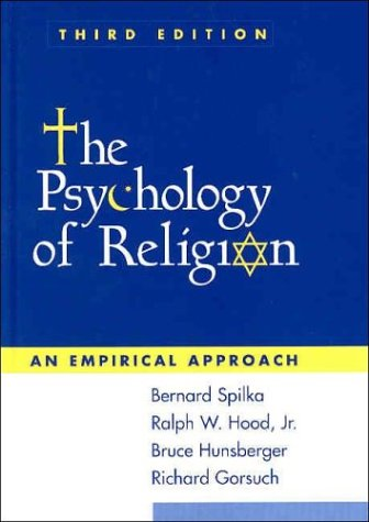 Psychology of Religion An Empirical Approach 3rd 2003 edition cover