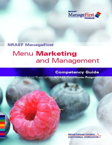 Menu Marketing and Management   2007 edition cover