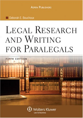 Legal Research and Writing for Paralegals  5th 2008 (Revised) edition cover