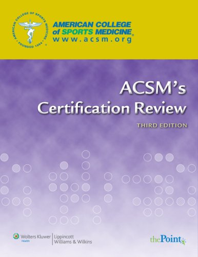 ACSM's Certification Review  3rd 2009 (Revised) edition cover