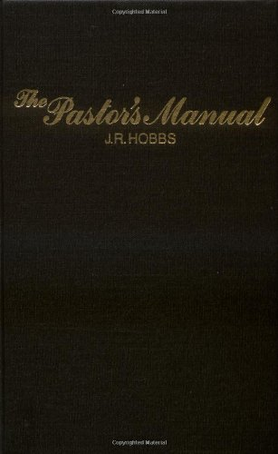Pastor's Manual   1925 edition cover
