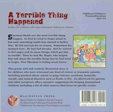 Terrible Thing Happened   2000 9781557987013 Front Cover
