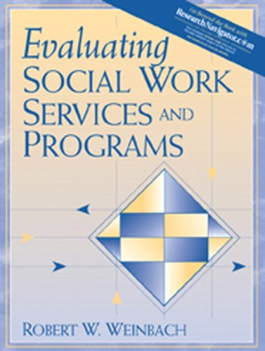 Evaluating Social Work Services and Programs   2005 edition cover