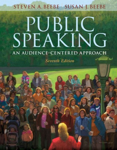 Public Speaking An Audience-Centered Approach 7th 2009 edition cover