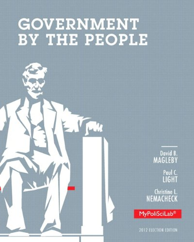 Government by the People, 2012 Election Edition, Books a la Carte Edition  25th 2014 edition cover