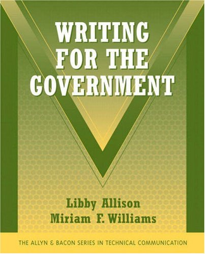Writing for the Government   2008 edition cover