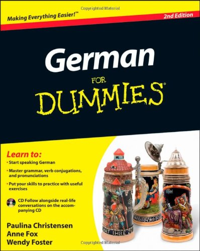 German for Dummies�  2nd 2011 edition cover