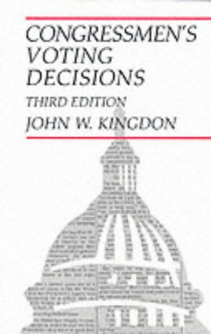 Congressmen's Voting Decisions  3rd edition cover