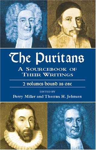 Puritans A Sourcebook of Their Writings  2001 (Large Type) edition cover