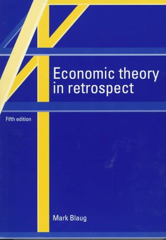 Economic Theory in Retrospect  5th 1996 (Revised) edition cover