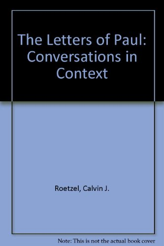 Letters of Paul Conversations in Context 3rd 9780664252014 Front Cover