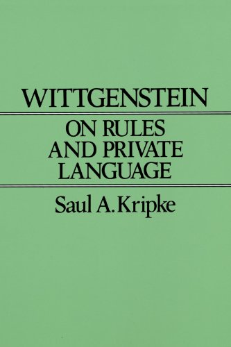 Wittgenstein on Rules and Private Language An Elementary Exposition  1982 edition cover