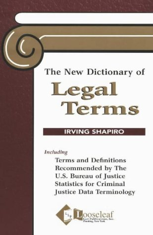 New Dictionary of Legal Terms   2001 edition cover