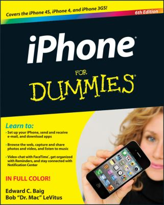 iPhone 5 for Dummies�  6th 2012 edition cover