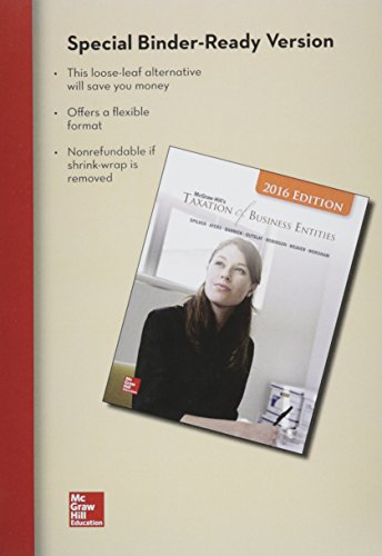Loose-Leaf for Mcgraw-Hill's Taxation of Business Entities, 2016 Edition with Connect  7th 2016 edition cover