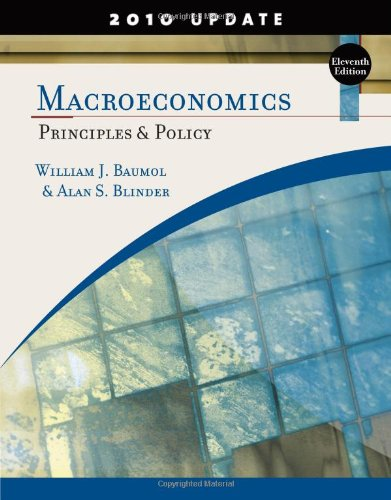 Macroeconomics Principles and Policy, Update 2010 Edition 11th 2011 edition cover