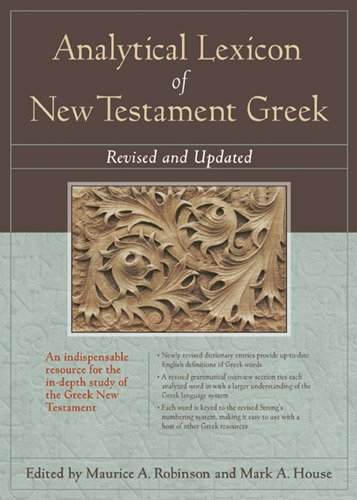 Analytical Lexicon of New Testament Greek   2012 9781598567014 Front Cover