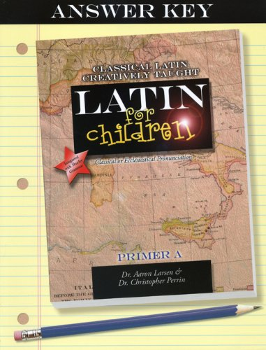 Latin for Children, Primer A Answer Key Large Type edition cover