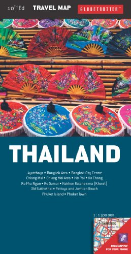 Globetrotter Thailand Travel Map:   2013 edition cover