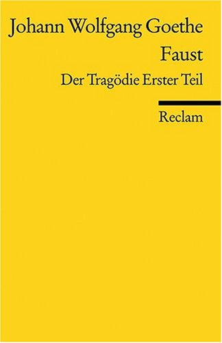 FAUST I:DER TRAGODIE ERSTER TE 1st edition cover