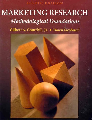 Marketing Research Methodological Foundations 8th 2002 edition cover