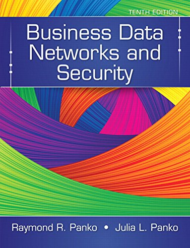 Business Data Networks and Security  10th 2015 edition cover