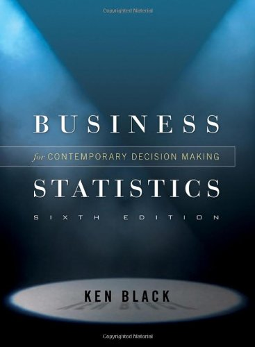 Business Statistics Contemporary Decision Making 6th 2010 edition cover