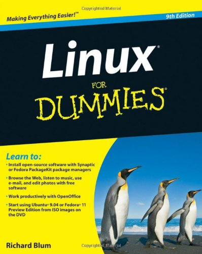 Linux for Dummies�  9th 2009 edition cover
