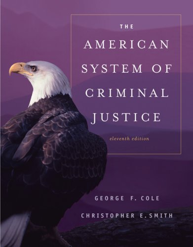 American System of Criminal Justice  11th 2007 (Revised) 9780495006015 Front Cover