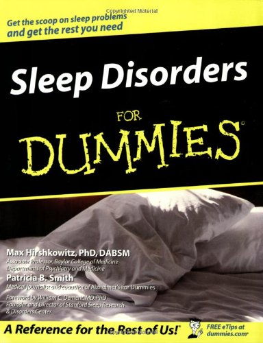 Sleep Disorders for Dummies   2004 edition cover