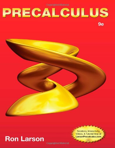 Precalculus 9th 2013 edition cover