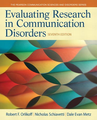 Evaluating Research in Communication Disorders  7th 2015 edition cover