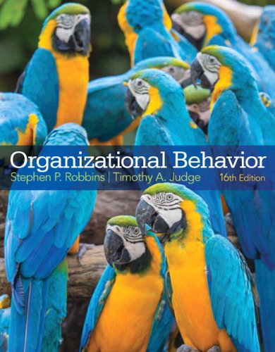 Organizational Behavior  16th 2015 edition cover