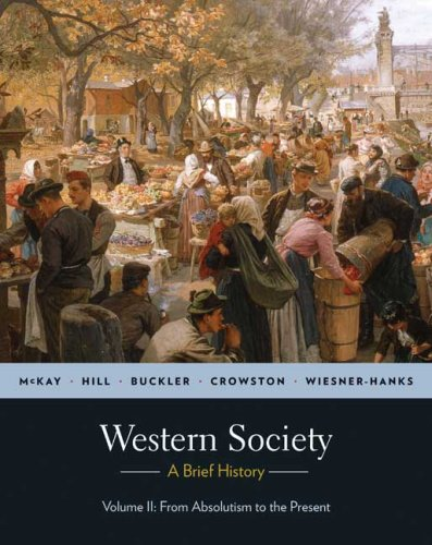 Western Society A Brief History - From Absolutism to Present  2010 edition cover