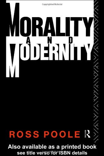 Morality and Modernity   1991 edition cover