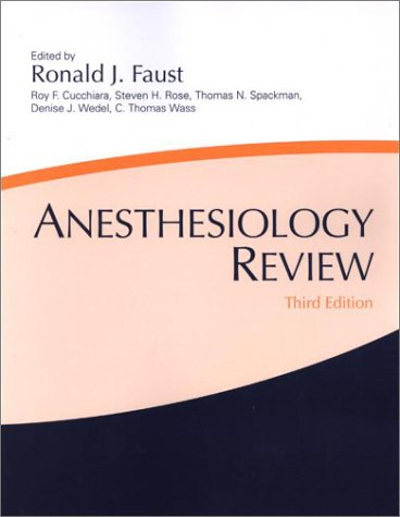 Anesthesiology Review  3rd 2002 (Revised) edition cover