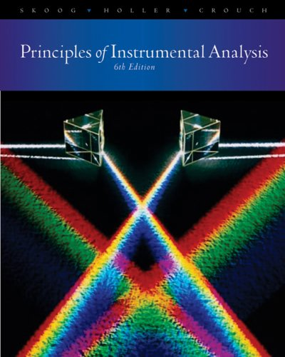 Principles of Instrumental Analysis  6th 2007 edition cover