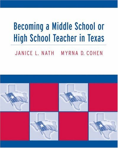 Becoming a Middle School or High School Teacher in Texas   2005 edition cover