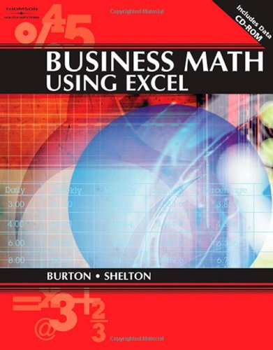 Business Math Using Excel   2005 edition cover