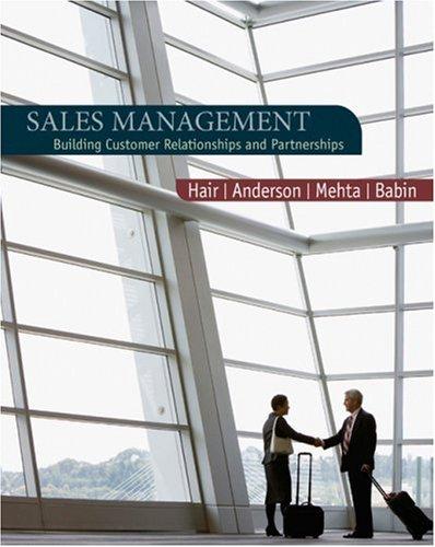 Sales Management Building Customer Relationships and Partnerships  2009 edition cover