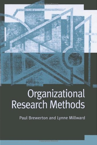 Organizational Research Methods A Guide for Students and Researchers  2001 edition cover