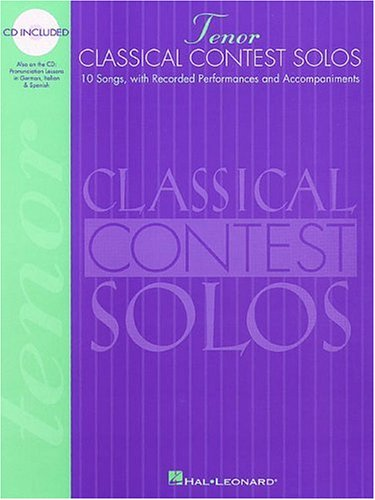 Classical Contest Solos - Tenor  N/A 9780793578016 Front Cover