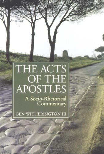 Acts of the Apostles A Socio-Rhetorical Commentary  1997 edition cover