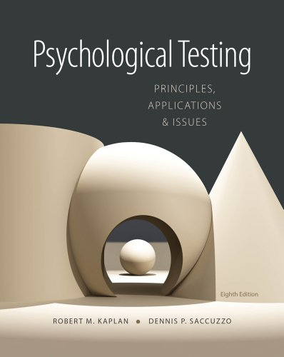 Psychological Testing Principles, Applications, and Issues 8th 2013 9781133492016 Front Cover
