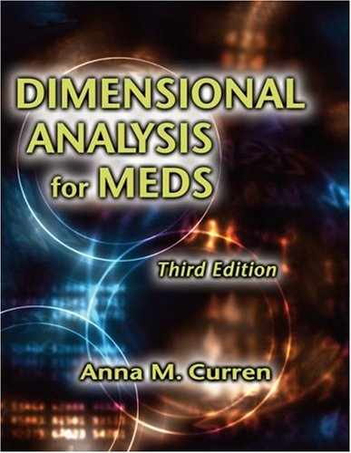 Dimensional Analysis for Meds  3rd 2006 (Revised) edition cover