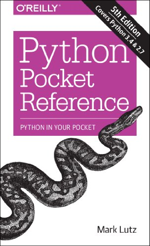 Python Pocket Reference  5th 2014 9781449357016 Front Cover